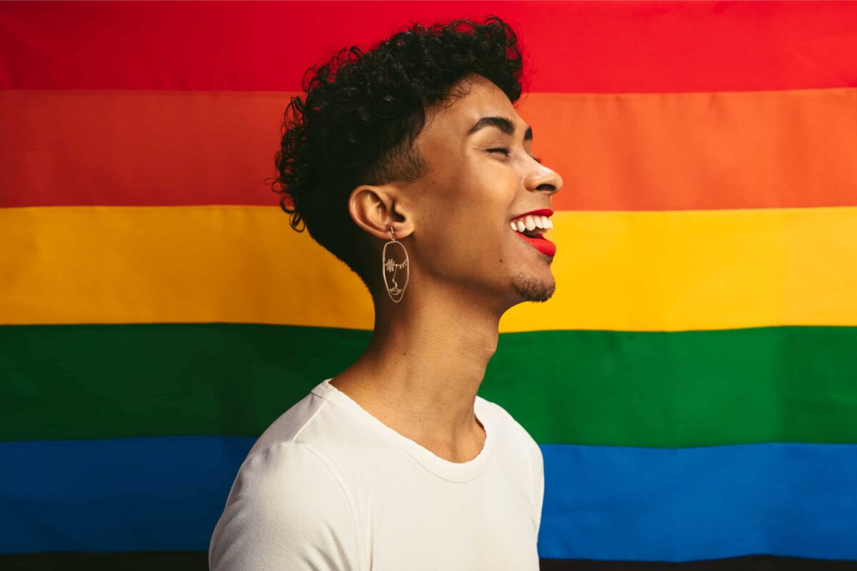 gay person smiling